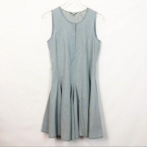 Heartloom Chambray Cotton Circle  Dress Small